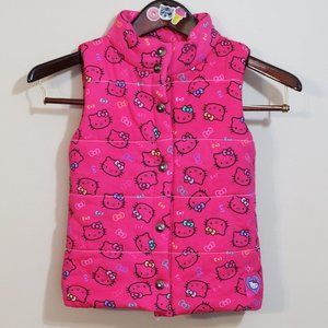 toddler Hello Kitty hot pink Fall Winter vest